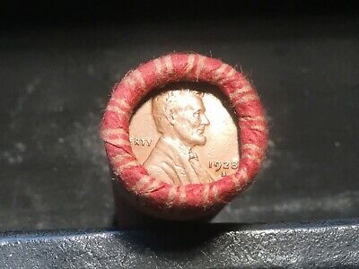 Very Nice HIGHER GRADE Wheat Cent Roll up for bid, 1928-S, 1927-S on ends #68