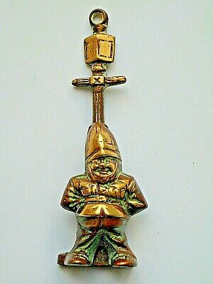 Vintage POLICEMAN & LAMP POST Brass Door Knocker–- Unusual Novelty