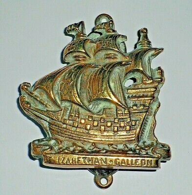 Vintage  ELIZABETHAN GALLEON Brass Door Knocker–-  Unusual Novelty