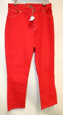Ladies RALPH LAUREN Red Polo Straight Skinny Trouser Jeans Size UK 14 - P31