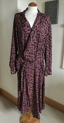 Vintage TOOTAL Lined Gents Dandy Paisley Dressing Gown Smoking  Jacket 42""
