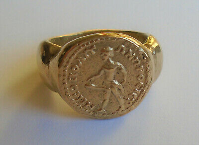ANCIENT ROMAN HIGH CARAT GOLD RING WEARABLE 19,1g; no reserve!