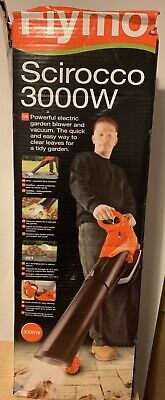 Flymo Scirocco 3000 Electric Garden Leaf Blower & Vacuum 124mph 240v