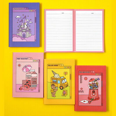Color Point Illustrated Cover Line Notebook Journal Study Memo Travel Art Sketch
