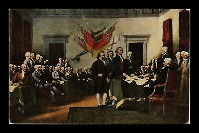 Dr Jim Stamps Us Declaration Of Independence Topical Painting Postcard