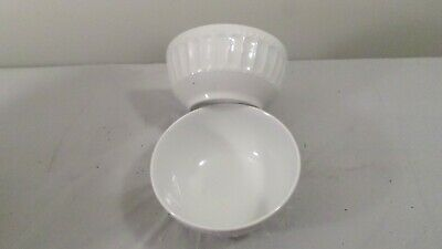 8 White Gibson China Soup Cereal Bowls