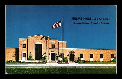 Dr Jim Stamps Us Helms Hall Los Angeles Sports Shrine California View Postcard