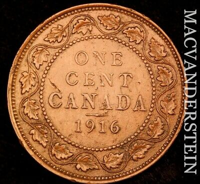 Canada: 1916 One Large Cent - Scarce  Better Date  #NR4634