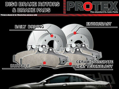 Protex Rear Brake Rotors & Ultra Pads suits Subaru SVX SVX 1992-1997