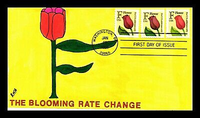 Dr Jim Stamps Us F Rate Flower Stamp Combo Hand Colored First Day Cover