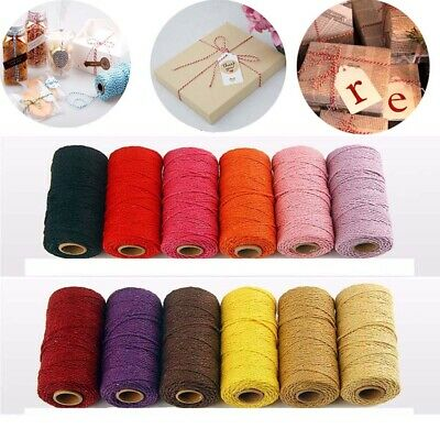 Bakers Home Decor Cotton Cords Packing Craft Projects Twine String DIY Rope