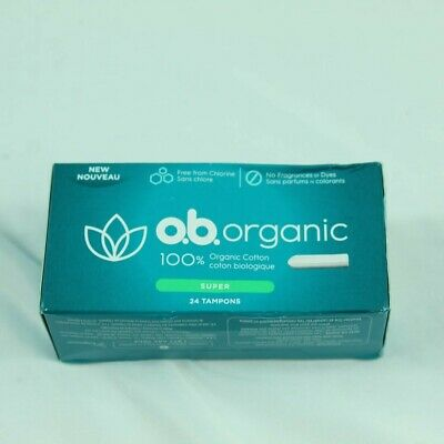 o.b. Organic Tampons - Applicator-Free - Unscented - Super - 24ct