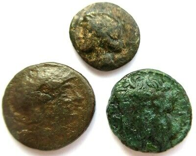 A lot of 3 x greek Ae-coins