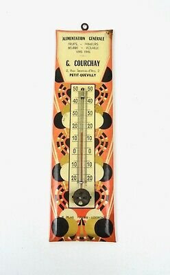 Rare Antique French Avantgarde Cubist Art Deco Wall Thermometer  Working 1925