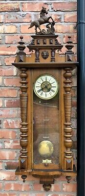 Large Grand Antique Walnut Vienna Wall Clock dil05
