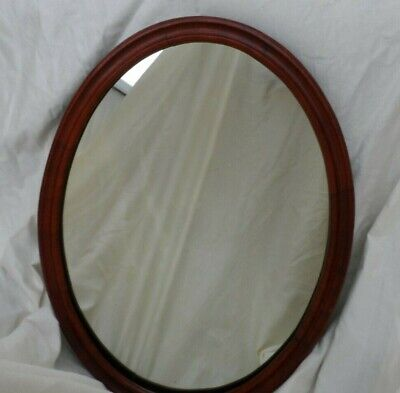 Antique Beautiful  solid wood oval wall mirror