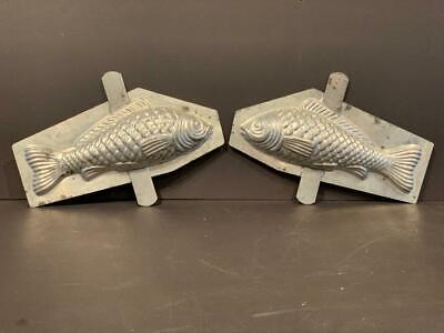 2-piece handled Fish Chocolate Mold, early 20th c
