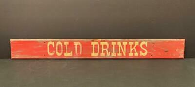 c. 1940 COLD DRINKS sign