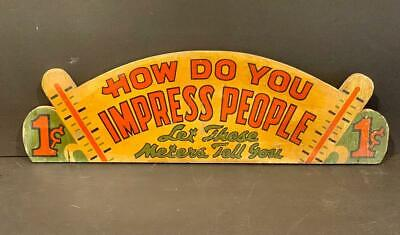 HOW DO YOU IMPRESS PEOPLE sign, c. 1940