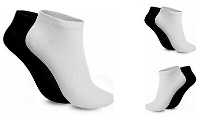 3, 6 & 12 Pairs Women Trainer Liner Ankle Cotton Rich Sports Ladies Gym Socks UK