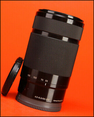 Sony 55-210mm F4.5-6.3 AF Zoom OSS E Mount Lens - Sold with Front & Rear Caps