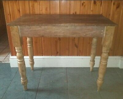 "Small 19th Century Victorian Country Pine Table 36"" wide"