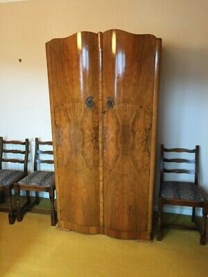 2 Beautiful Antique Georgian/Edwardian triple fronted wardrobe.