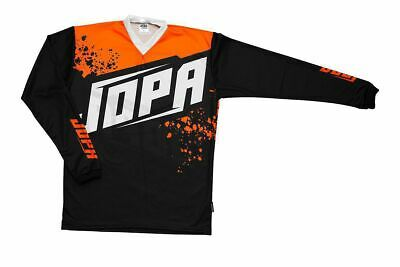 "Jopa Crossshirt ""Charge"" Jersey in Schwarz-Orange MX-Hemd auf Wunsch Name/Nummer"