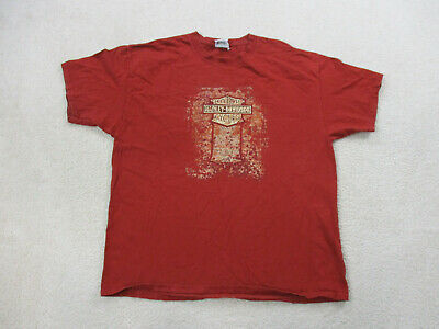VINTAGE Harley Davidson Shirt Adult Extra Large Red Gray Florida Motorcycle Mens