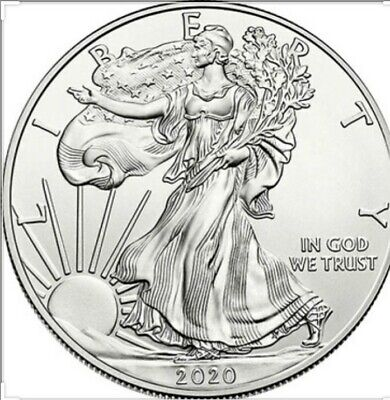 One 2020 American Silver Eagle Coin One Troy oz. .999 Fine