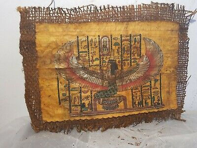 Rare Antique Ancient Egyptian payrus God Isis Good Health Cure ill 1840-1760BC