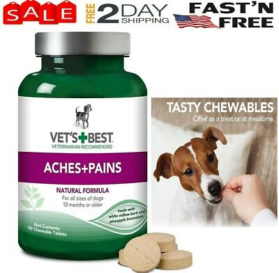 Vets Best Aspirin Free Aches+Pains Dog Supplement, for Dog Pain and Joint Relief