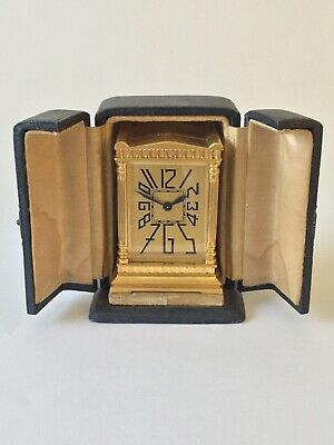 Rare Miniature Art Deco Carriage Clock, Mantle Clock
