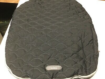 JJ Cole  Collection Black Gray Stitching Quilted  Bundle Me Car Seat Cover