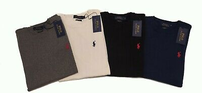 BNWT Ralph Lauren Mens Round Crew Neck Jumper Sweatshirt Slim Fit Authentic NEW