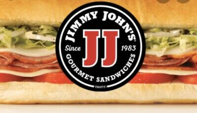 Jimmy Johns E.  Gift Card Value $25 Buy It Now $17 Great Deal!