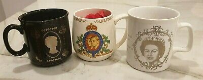 1937 King George VI Coronation Mug 1977 Silver Jubilee Mug and 1981 Princess Di