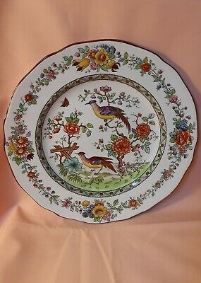 Spode Bone China Plate Decorated With Exotic Birds In a Tree