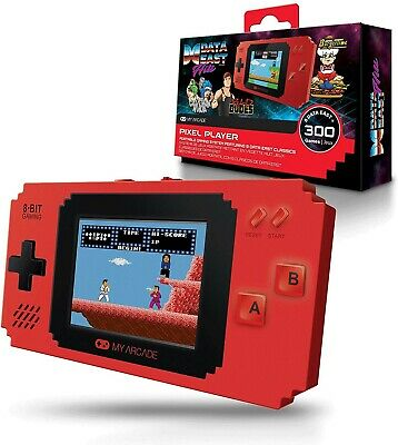 MY ARCADE Pixel Player Portable Gaming System+300 Built-in Games. FREE POSTAGE