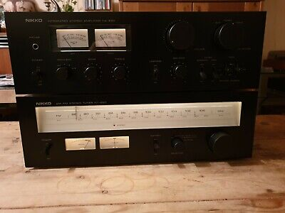 Nikko NA-690 Amplifier and Matching NT-890 Tuner 1979 Vintage with phono stage
