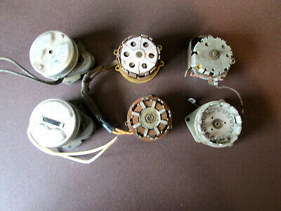 Lot of 6 Vintage  Electric Clock Motors AS IS for parts (600I)