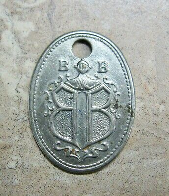 Antique Metal Charge Card Retail Store Boggs & Buhl Pittsburgh Pa Key Tag