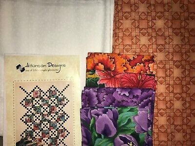 "Quilt, Sew, Fabric Kit  Country Lanes #3   60"" x 75"""