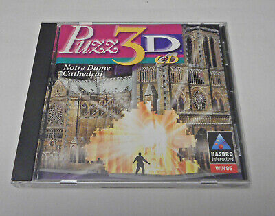 Puzz 3D CD Notre Dame Cathedral Hasbro Interactive PC Win 95 1997