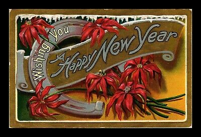 Dr Jim Stamps Us Wishing You Happy New Year Embossed Topical Greetings Postcard
