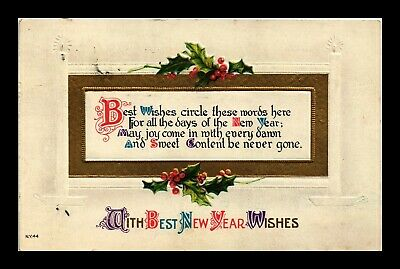 Dr Jim Stamps Us With Best New Year Wishes Embossed Topical Greetings Postcard