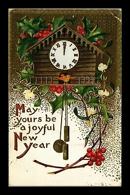 Dr Jim Stamps Us May Yours Be A Joyful New Year Embossed Topical Postcard