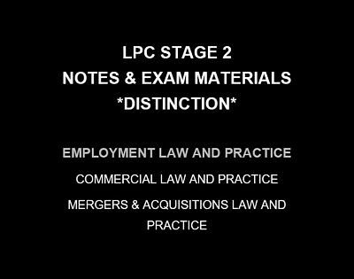 Employment Law and Practice | LPC NOTES & EXAM MATERIALS 2019/20 | Distinction