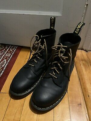 Men's Dr Martens 1460 Greasy Leather Lace Up Boots Size 10.5