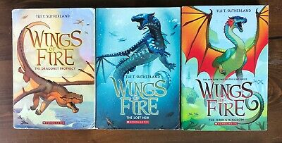 WINGS OF FIRE Tui Sutherland Starter Set 1-3 Softcover